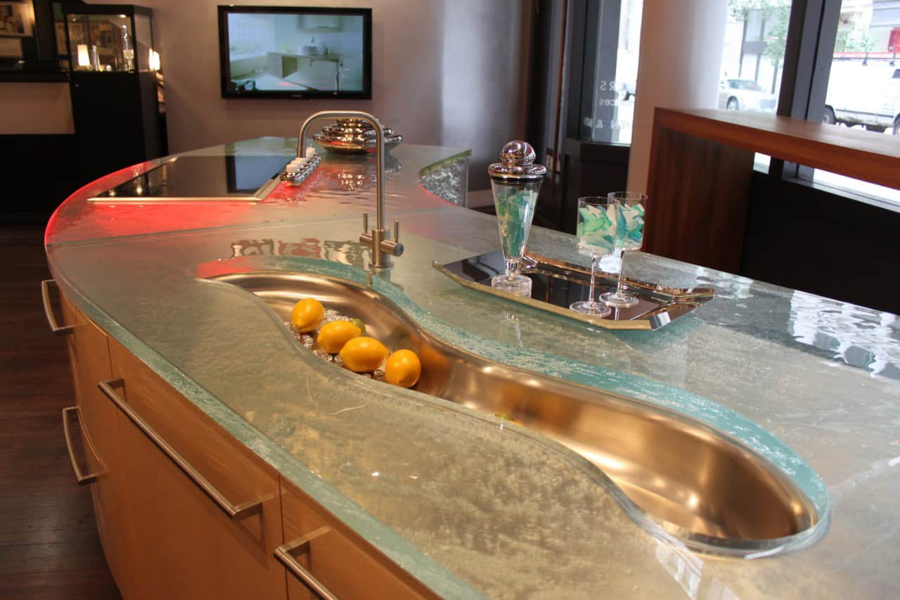 Kitchen Counter Ideas modern kitchen countertops from unusual materials: 30 ideas
