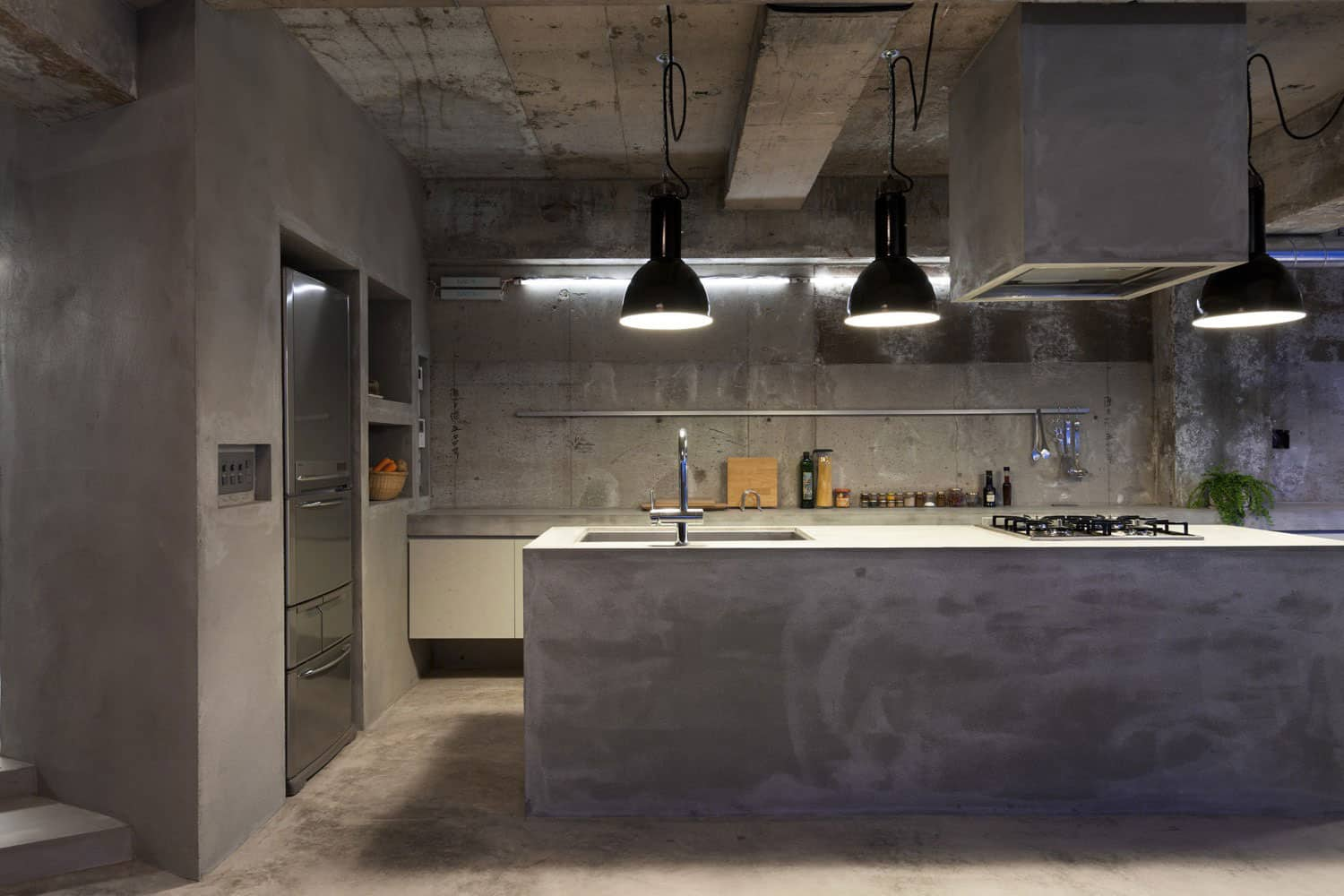 View In Gallery Modern Countertops Unusual Material Kitchen Concrete 3