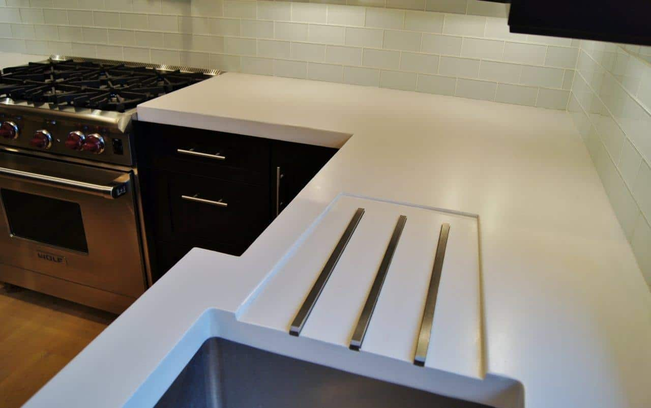 how to make white concrete countertops modern kitchen countertops from materials 30 ideas 194