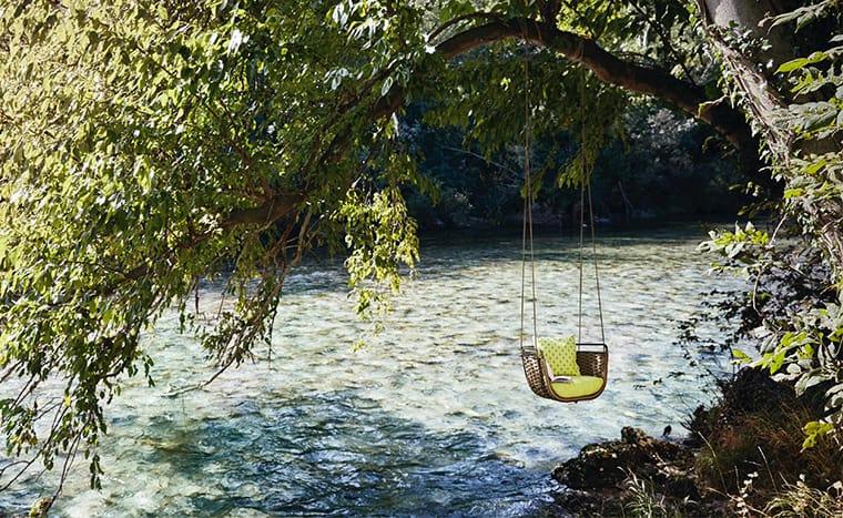 Popular Santiago Sevillano designed Roberti us Portofino Swing Sofa and it has its muse in the seafaring culture
