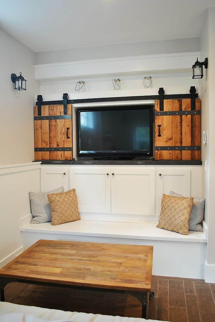 idea for garage sink - Architectural Accents Sliding Barn Doors for the Home