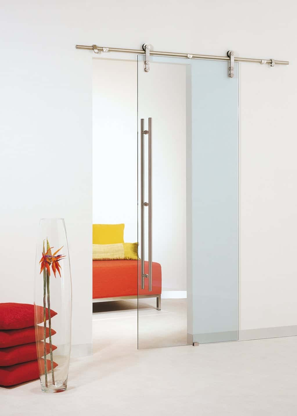 Architectural accents sliding barn doors for the home for Glazed sliding doors