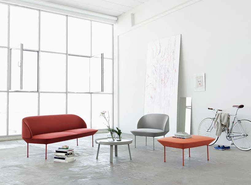 The Sleek Oslo Series By Anderssen Voll Features This Scandinavian Design Sofa With Aluminum Legs Painted Same Color As Kvadrat Fabric