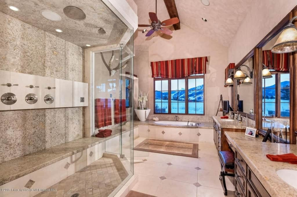 View In Gallery Aspen Colorado Mountain View Bathroom 13