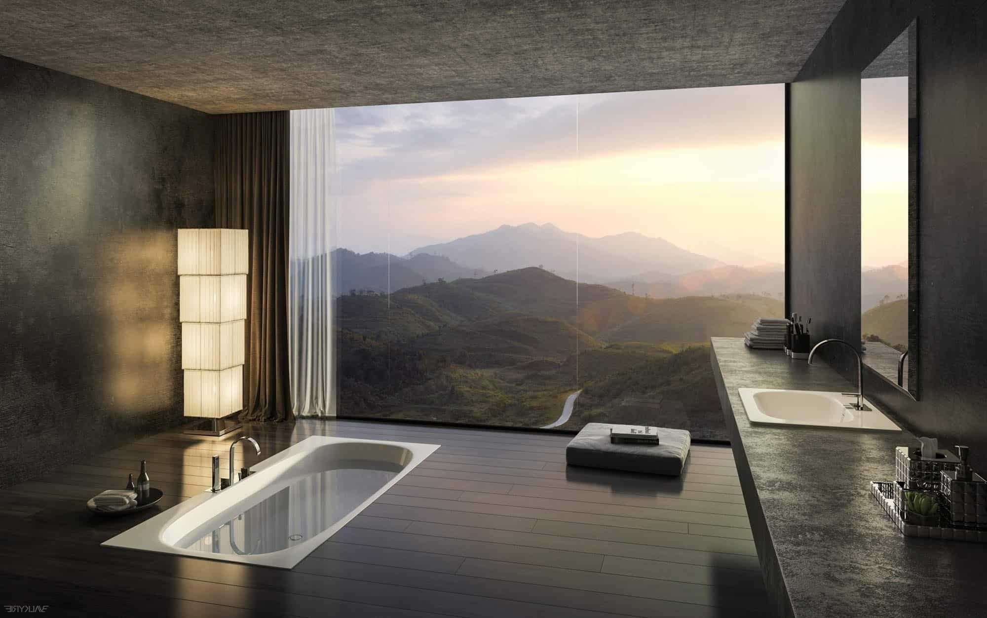 40 stunning luxury bathrooms with incredible views - Luxury bathroom designs with stunning interior ...