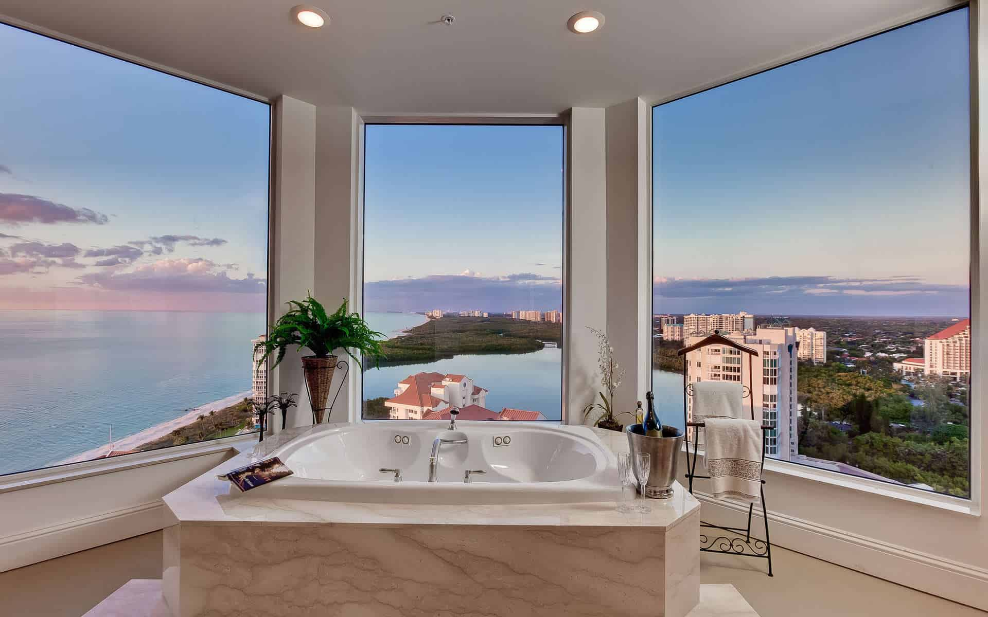 Delicieux View In Gallery Naples Fl Bathroom With A Long View Over