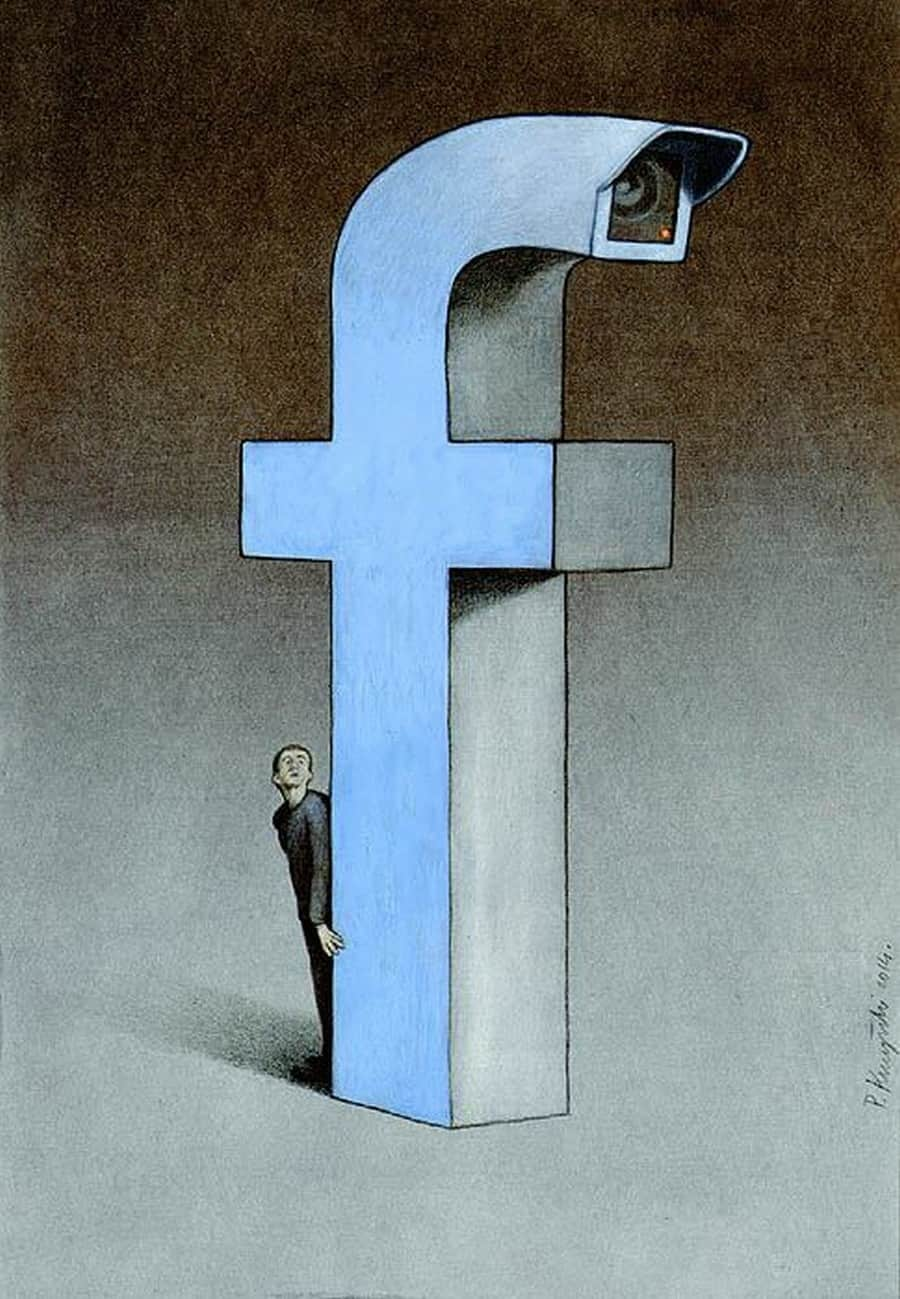 Cartoonist Pawel Kuczynski Takes On Facebook With His