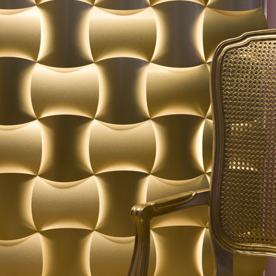3 form gold aluminum laminate wall covering1 Aluminium Laminate by 3form   create magic with Alchemy Gold laminate