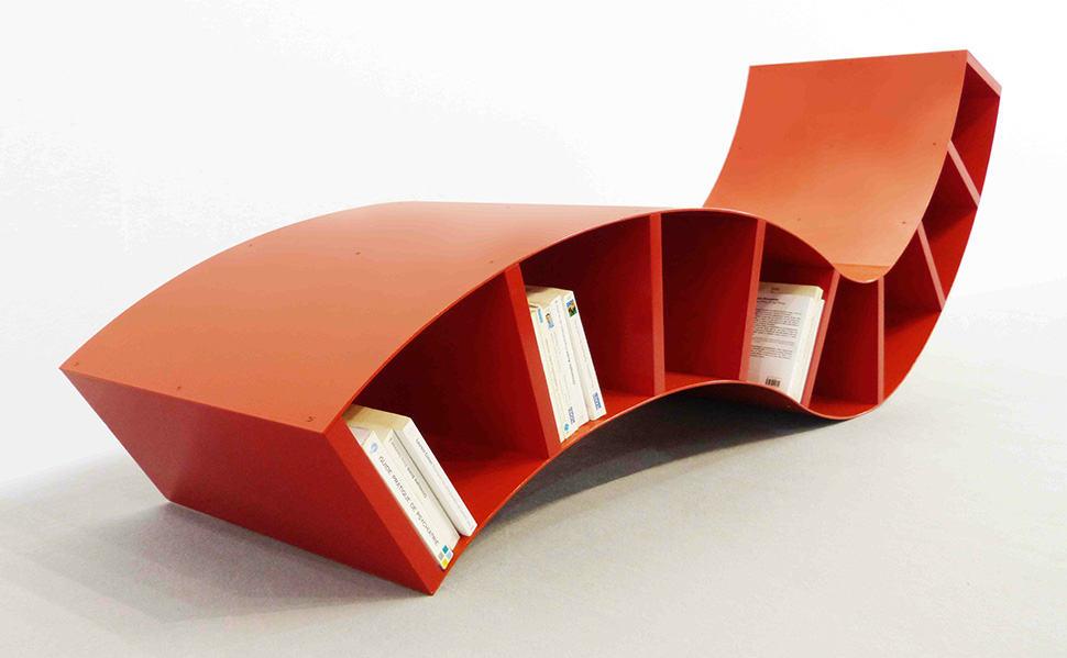 Remarkable 3 Modern Red Metal Bookshelves Interior Design Ideas Clesiryabchikinfo