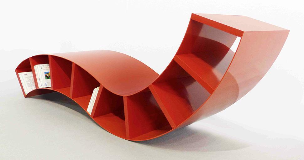 Swell 3 Modern Red Metal Bookshelves Interior Design Ideas Clesiryabchikinfo