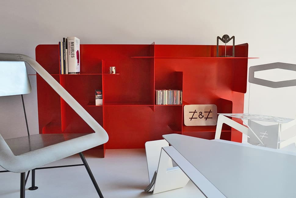 Miraculous 3 Modern Red Metal Bookshelves Interior Design Ideas Clesiryabchikinfo