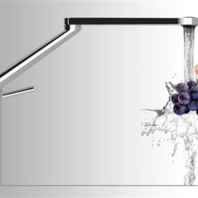 360 Degree Rotation Kitchen Faucet by Nobili – Zoom