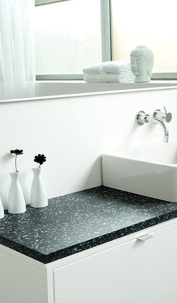 3form 100 percent recycled polymer countertop