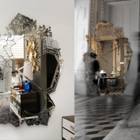 84″ High Art Mirror from Boca Do Lobo: Venice