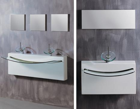 ArtCeram CrystalWall twin sink Crystall Wall Top sink from ArtCeram