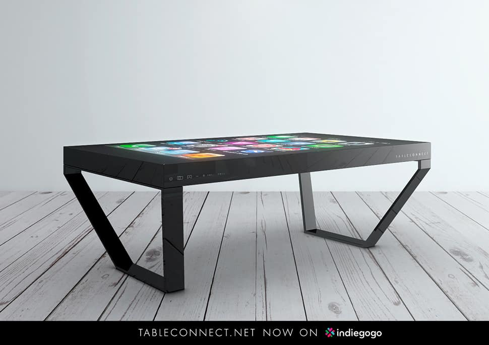 Tableconnect 60 inch multitouch design table for 60s table design