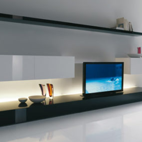 Cool Living Room Ideas from Acerbis – an expanding TV screen