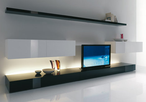 Cool Living Room Ideas From Acerbis An Expanding Tv Screen