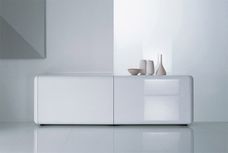 acerbis sideboard superego 1 Contemporary Sideboard by Acerbis   Superego sideboard with slow motion effect