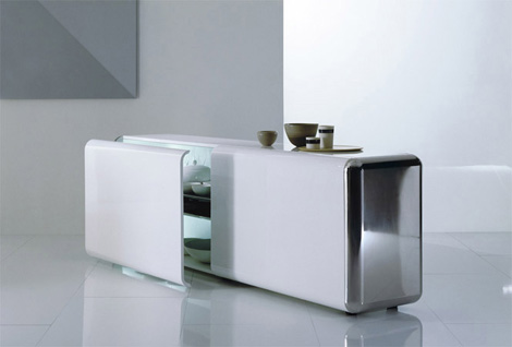 acerbis sideboard superego 3 Contemporary Sideboard by Acerbis   Superego sideboard with slow motion effect