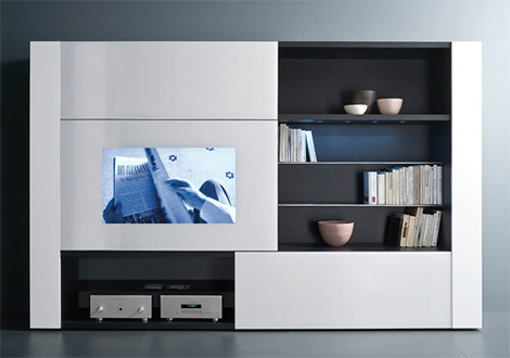 Home Entertainment Wall Unit for Technophiles – new Tuttuno unit by Acerbis