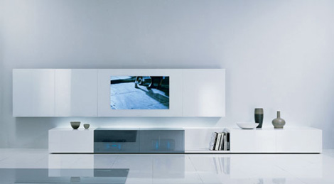 acerbis wall unit new concepts 1 Contemporary Wall Unit by Acerbis   New Concepts audio/video unit with concealed loud speakers