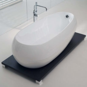 Acrylic Bathtub on Wenge Stand – new Illusion by Calyx