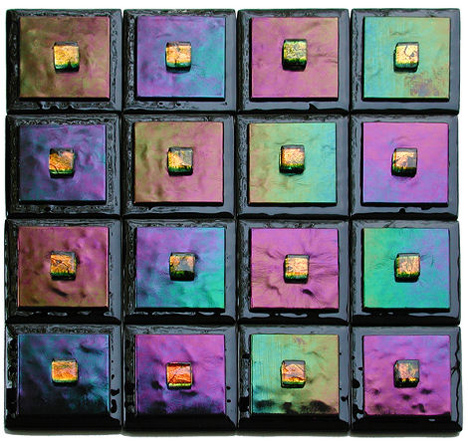 adagio art glass custom iridized tiles Contemporary accent tiles from Adagio Art Glass   new for 2007
