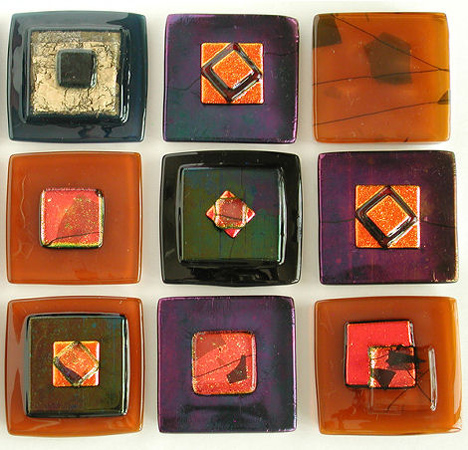 adagio art glass rhapsody tiles Contemporary accent tiles from Adagio Art Glass   new for 2007