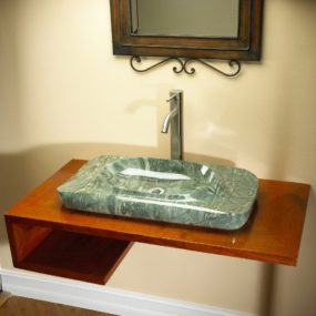 High-end Luxury Bathroom Sink from Adagio – wood and marble sinks