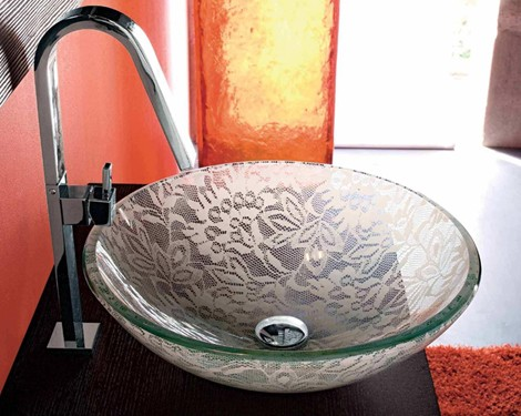Lace Washbasin from Adatto Casa – new Crystal Modus Washbasin