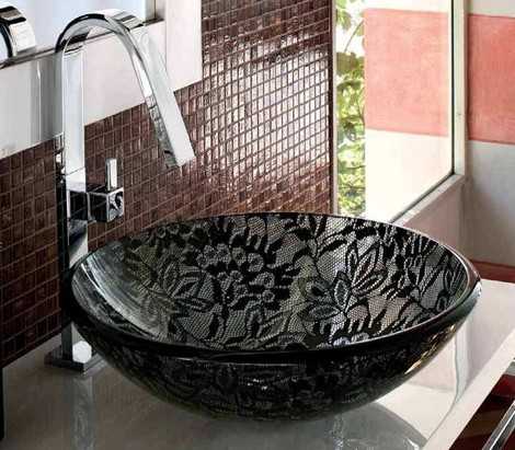adattocasa washbasin crystal modus 2 Lace Washbasin from Adatto Casa   new Crystal Modus Washbasin