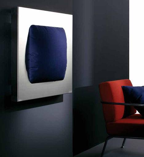 adhoc radiator removable cushion makura Steel Radiator with removable cushion from ADhoc   the Makura radiator