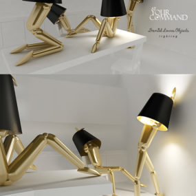 Adjustable Human-sized Lamps by Daniel Loves Objects