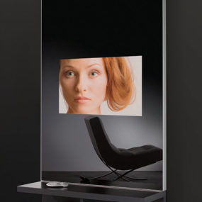 TV Mirror Wall Unit – Multimedia Mirror Furniture by AdNotam