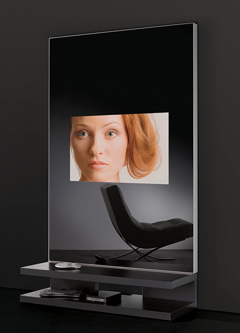 Tv Mirror Wall Unit Multimedia Mirror Furniture By Adnotam