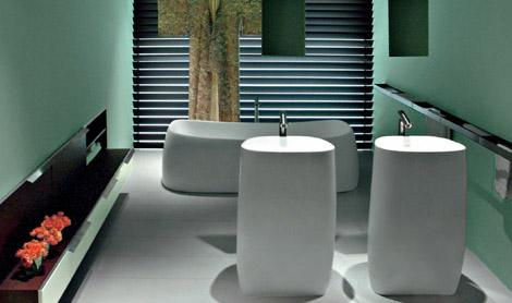 agape pear bathroom Modern Bathroom Fixtures from Agape   new Pear bathroom collection