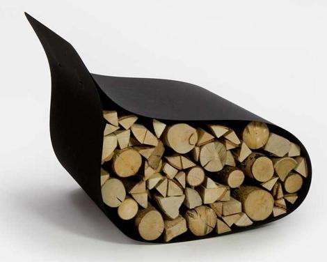 ak47 wood storage chair flex 2 Modern Firewood Rack   Firewood Storage as Chair by AK47