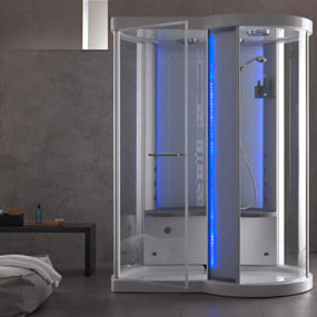 Steam Shower cabin from Albatros – the Atrium spa shower with starry roof