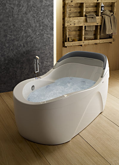 whirlpool tub. Whirlpool Tub from Albatros  the Thalia Oval airpool tub with back lumbar support