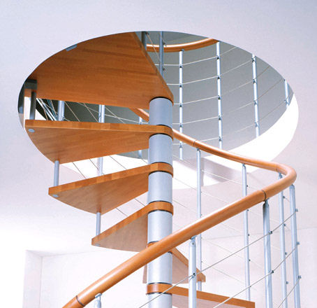 albini fontanot modern home stairs Modern Spiral Stairs from Albini & Fontanot