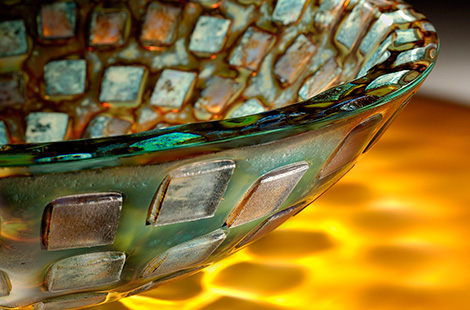 alchemy glass vessel sink alchemy mosaic detail Glass Vessel Sinks by Alchemy Glass & Light   new Celestial sink series