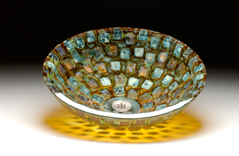 alchemy glass vessel sink alchemy mosaic