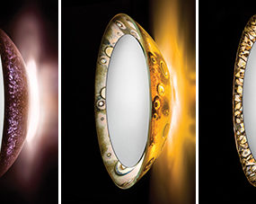Illuminated Art Mirrors by Alchemy Glass & Light – new mirror designs inspired by a solar eclipse