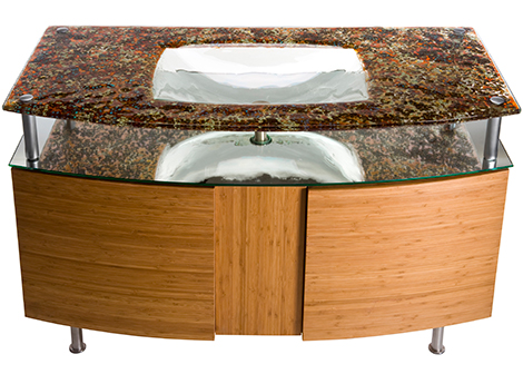 alchemy integral sink 3 Glass Integral Sinks by Alchemy Glass & Light   make your bath beautiful!