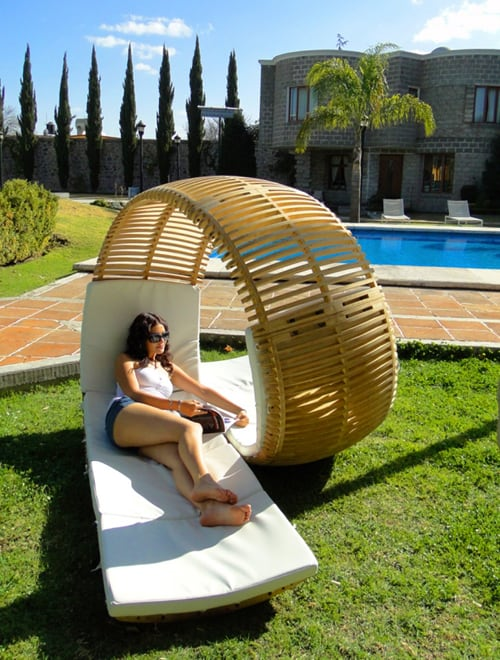 aleman lounge chair loopita bonita 2 Double Patio Lounger by Victor M. Aleman