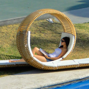 Double Patio Lounger by Victor M. Aleman