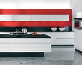 Modern Kitchen by Allmilmoe – new Contura design with no handles and 70s feel