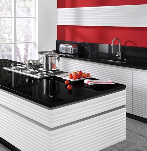 allmilmoe kitchen contura island Modern Kitchen by Allmilmoe   new Contura design with no handles and 70s feel