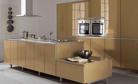 alno alnoart pro highgloss capuccino kitchen Modern European Kitchens   the spring colors of ALNO contemporary kitchens